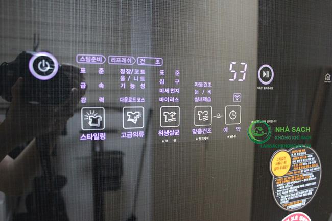 Chức năng các nút trên bảng điều khiển máy giặt thông minh LG Styler