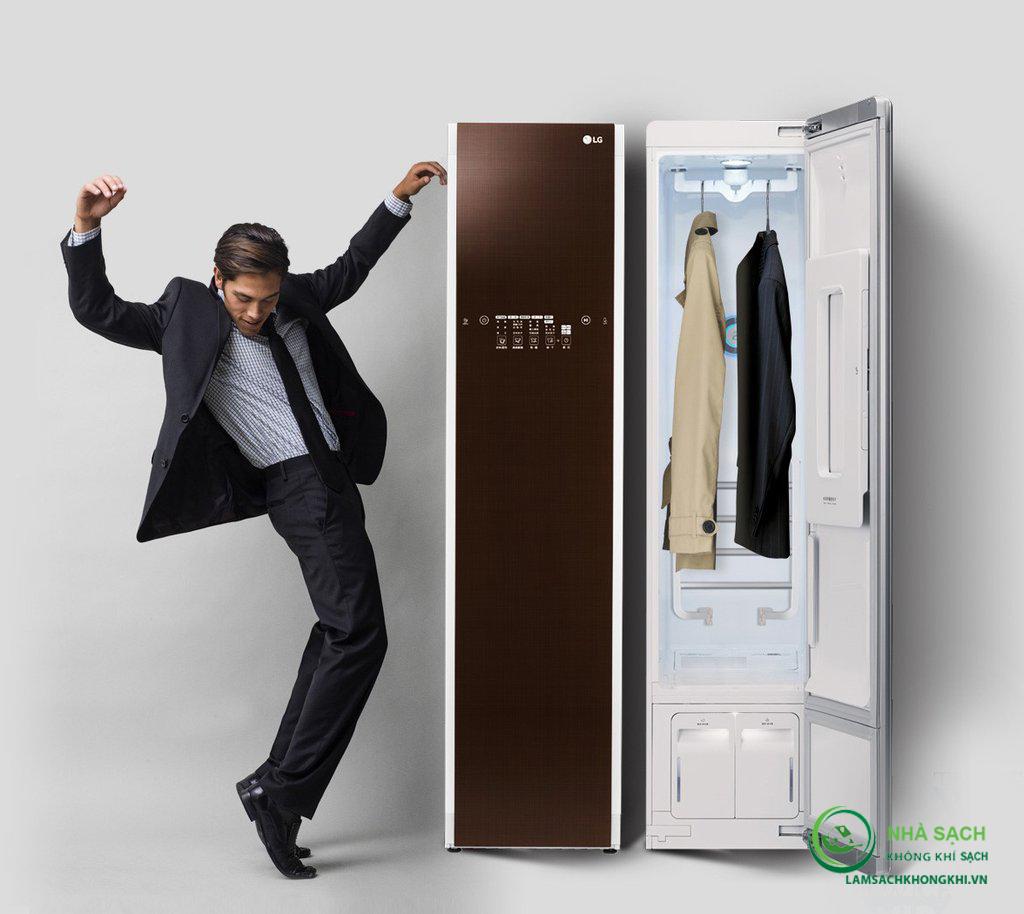 Máy giặt hấp sấy nội địa Hàn LG Styler S5BB: không dùng nước, không hóa chất, diệt sạch vi khuẩn