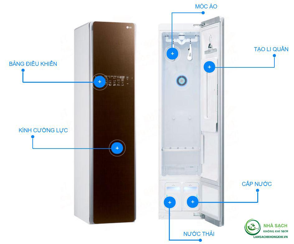 Cấu tạo của máy giặt hấp sấy LG Style S3PER