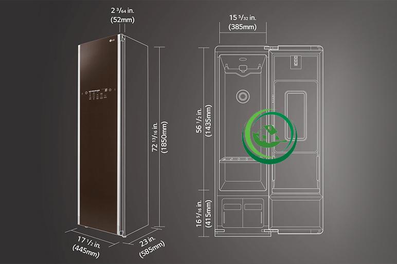 So sánh máy giặt hấp sấy LG Styler S5BB và S3RER