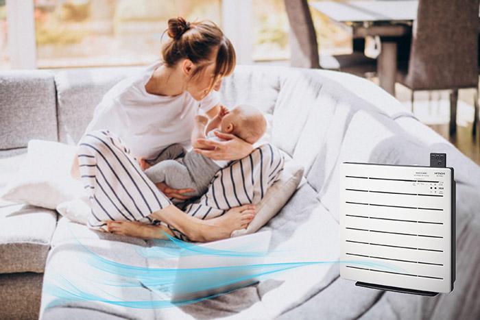 Chia sẻ kinh nghiệm chọn Máy lọc không khí tốt cho trẻ sơ sinh